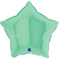 Звезда зеленый пастель