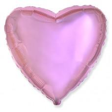 Сердце нежно-розовый 75 см.