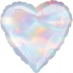 Сердце белый перламутр
