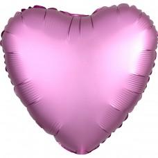 Сердце сатин розовый