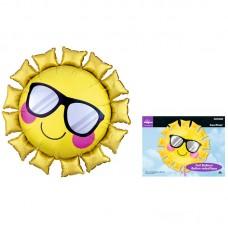 """Фольгированный шар """"Солнце в очках"""""""
