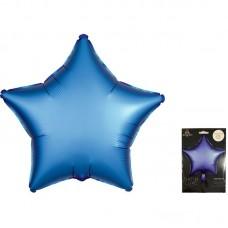Звезда сатин голубой