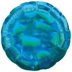 Круг синий перламутр