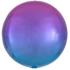 """3D Сфера """"Омбре"""" сиреневый-голубой"""