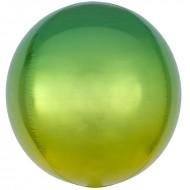 """3D Сфера """"Омбре"""" желто-зеленый"""