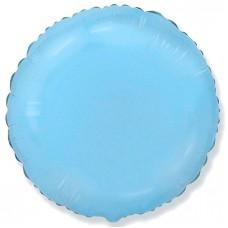 Круг фольгированный голубой