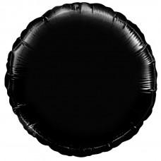 Круг фольгированный черный