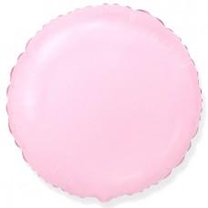 Круг фольгированный розовый