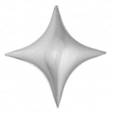 Звезда-ромб серебро