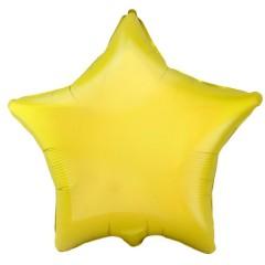 Звезда фольгированная желтая