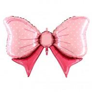 """Фольгированный шар """"Бант"""" розовый"""