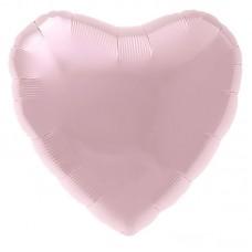 Сердце нежно-розовый