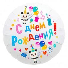 """Круг """"День рождения"""" панды"""