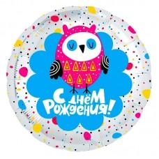 """Круг """"День рождения"""" совенок"""