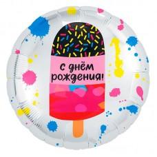 """Круг """"День рождения"""" мороженое"""
