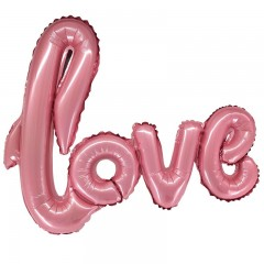 Надпись LOVE розовая