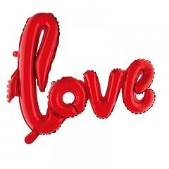 Надпись LOVE красная