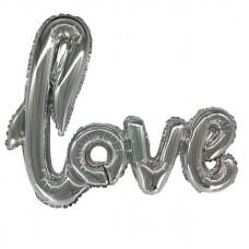 Надпись LOVE серебро