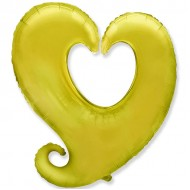 Сердце витое золото