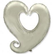 Сердце витое серебро