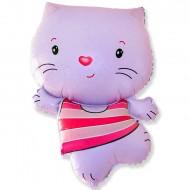 """Фольгированный шар """"Котенок"""" розовый"""