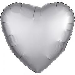 Сердце сатин платина