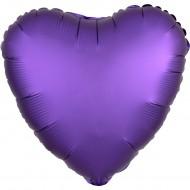Сердце сатин фиолетовый