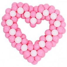 """Фигура """"Сердце в крапинку"""" розовое"""