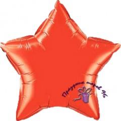 Звезда фольгированная красная 75 см.