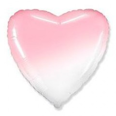 Сердце бело-розовое градиент