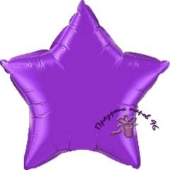 Звезда фольгированная фиолетовая 75 см.