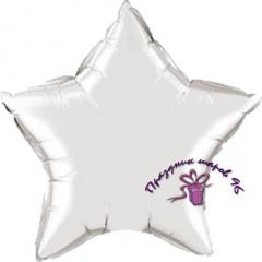 Звезда фольгированная серебро 75 см