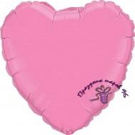 Сердце фольгированное розовое