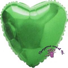 Сердце фольгированное зеленое