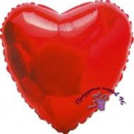 Сердце фольгированное красное