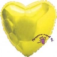 Сердце фольгированное золото