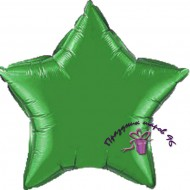 Звезда фольгированная зеленая 75 см.