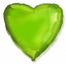 Сердце фольгированное киви