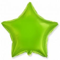 Звезда фольгированная киви