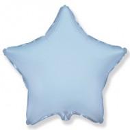 Звезда фольгированная голубая