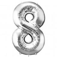"Цифра ""8"" серебро"