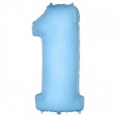 """Цифра """"1"""" голубая"""