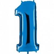 "Цифра ""1"" синий"