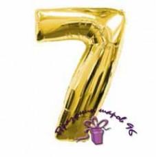 """Фольгированная цифра """"7"""""""