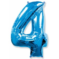 "Цифра ""4"" синий"