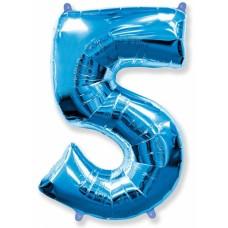 "Цифра ""5"" синий"