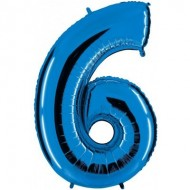 "Цифра ""6"" синий"