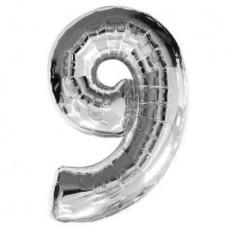 "Цифра ""9"" серебро"