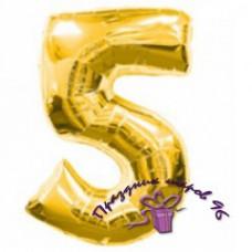 """Цифра """"5"""" золото"""