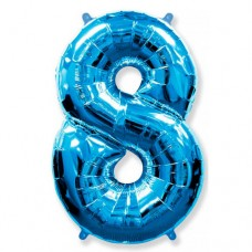 "Цифра ""8"" синий"